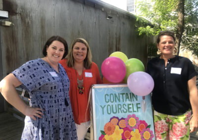 2019 Event Co-Chairs Elizabeth Marley and Shelley Holden with GCC President, Kristie Blanco